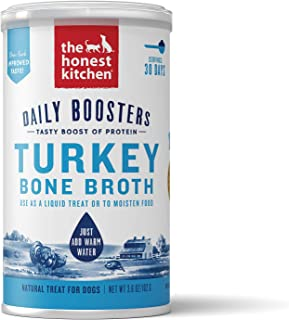 The Honest Kitchen Daily Boosts: Instant Turkey Bone Broth Liquid Treat with Turmeric for Dogs and Cats, 3.6 oz