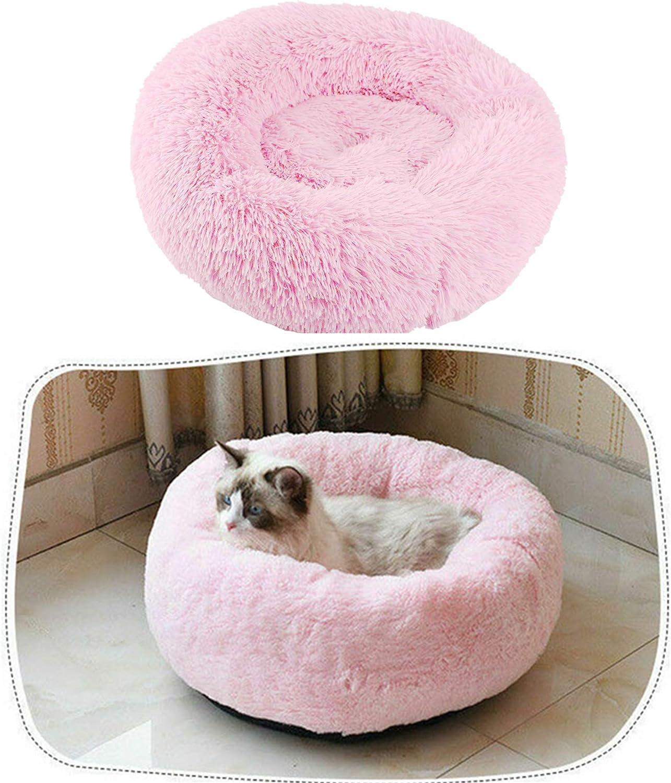 JQjian Pet Dog Bed Cat Cushion Dog Sofa Orthopedic Dog Bed Ultra Soft Warming Cushion Pet Bed Round Oval Nest Lounger Pet Bed