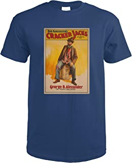 The Cracker Jacks The Tramp Balladist Poster 4360 (Navy Blue T-Shirt XX-Large)