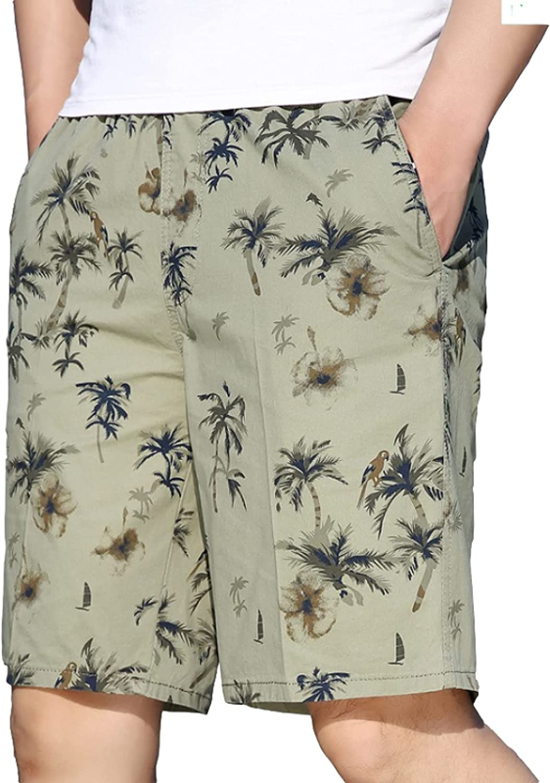 Men's Shorts Fashion Personality Printing Casual Comfortable Elasticated Waist