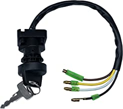 SHUmandala 4 Wires Ignition Key Switch fit Kawasaki Bayou 220 KLF220 A1/A2/A3/A4/A5/A6/A7/A8 1988-1995/KLF110 B2 MOJAVE 110E 1988 ATV 27005-1131