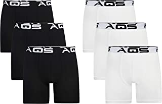aqs Mens Boxer Briefs 6 Pack