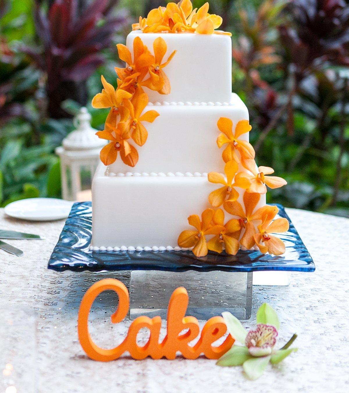 Cake Charlotte Mall Sign for Wedding Table Dedication Freestanding