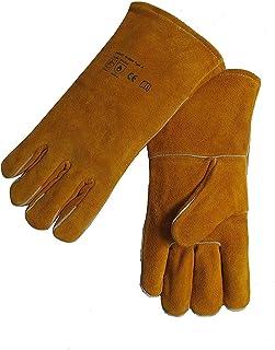 "Blackhorse MIG/Stick Welding Gloves Heat/Fire Resistant 14"", split cowhide Leather, Kevlar Stitching 1-Pair"