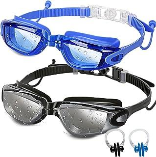 SBORTI Swim Goggles, Pack of 2 Swimming Goggles For Adult Men Women Youth Kids