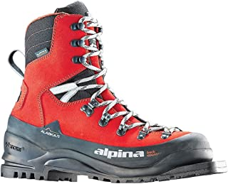 Alpina Sports Alaska 75 Leather 3 Pin 75 mm Backcountry Cross Country Nordic Ski Boots, Euro 36, Red/Black