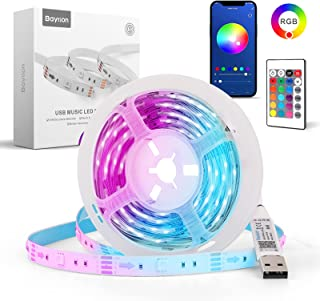 Smart LED Light Strips,Baytion Smart LED Strip Lights with APP Controlled 5050 RGB Music Sync Colors Changing and 24-Key R...
