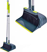 Jekayla Broom and Dustpan Set with Extendable Long Handle, Upright and Lightweight Cleaning Combo for Home Kitchen Room Of...