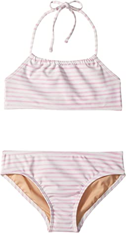 Toobydoo - Pink Stripe Bandeau Halter Bikini (Infant/Toddler/Little Kids/Big Kids)