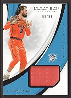 2018-19 Immaculate Collection Basketball Remarkable Memorabilia JERSEY #RM-SAD Steven Adams /99