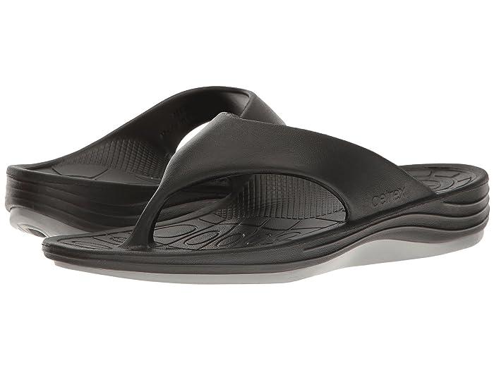 Aetrex  Lynco Flip (Black) Mens Sandals
