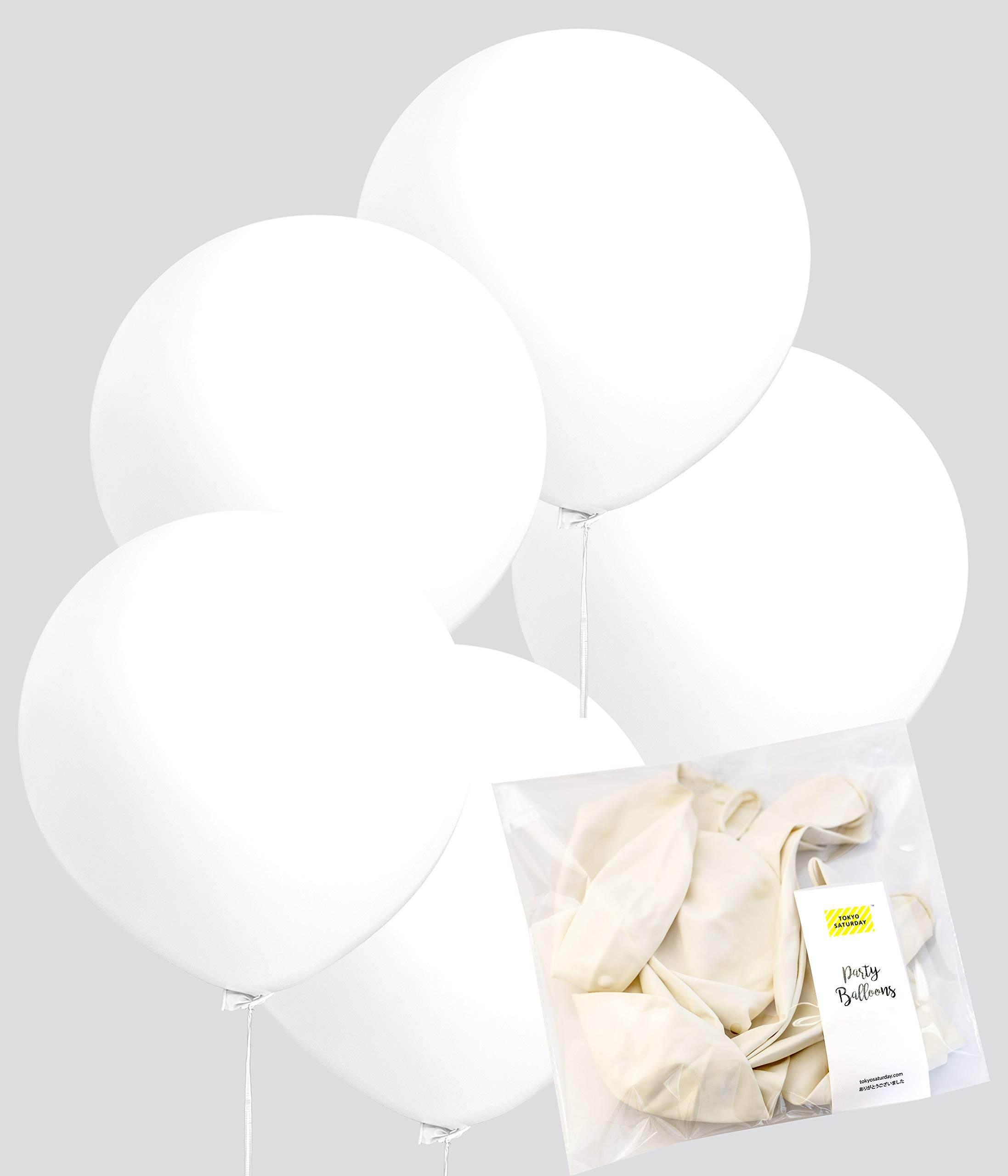 TOKYO SATURDAY Balloons Decoration -10 Pcs Large Extra Jumbo Latex Materials Balloon 24 Inch Decoration - for Wedding…