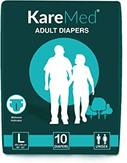 Kare Med Adult Diapers - Large 10 Count (96cm - 147cm)