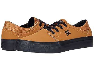 DC Kids Trase (Little Kid/Big Kid) (Wheat/Black) Boys Shoes