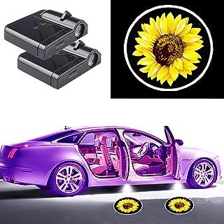 لوازم جانبی اتومبیل آفتابگردان ، چراغ های آفتابگردان ، پروژکتور لیزری خوش آمدید چراغ درب اتومبیل بی سیم ، چراغ درب اتومبیل با حسن نیت ارائه می دهید ، نور گودال ، بدون سیم کشی ، بدون منگنه ، مناسب برای همه وسایل نقلیه