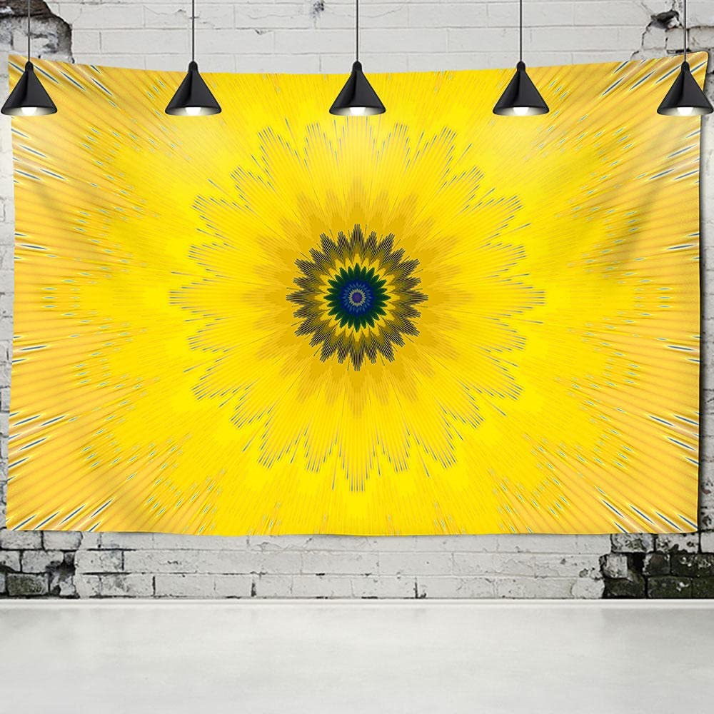 Direct stock Don't miss the campaign discount YPDWYJL 3D tapestry yellow mandala bedroom wall blan living room