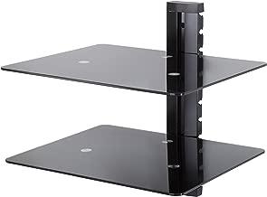AVF AS200-A Wall Mounted AV Component Shelving System - 2 Shelves, Black