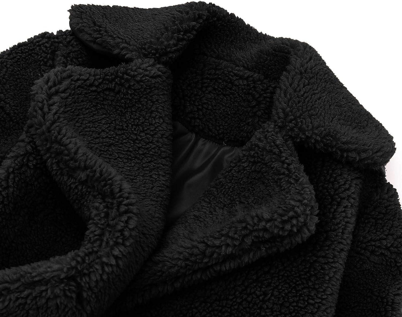 rarity Kleinkind Baby Teddy Fleece Mantel Kinder Winterjacke M/ädchen Winddicht Winter Solid Mantel Verdicken Warme Outwear Lange /Ärmel Outwear Pl/üsch Kapuzenpullover Winter Warm Mantel