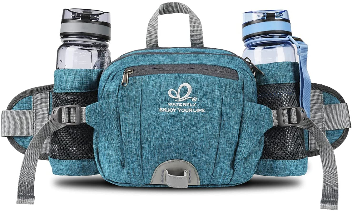 WATERFLY Fanny Pack with Classic Water Packs Holder Bottle Super sale period limited Hiking Waist