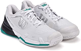 RUSH PRO 2.5 2019 Tennis Shoes, White/Ebony/Deep Green, 8