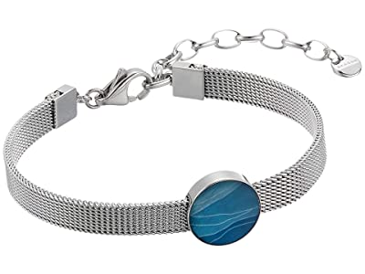 Skagen Agnethe Silver-Tone Steel-Mesh and Mother-of-Pearl Bracelet (Silver-SKJ1342040) Bracelet