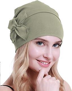 قبعة صغيرة من القطن بتصميم العمامة Chemo من أوسفيو، قبعة صغيرة للنساء لمرضى السرطان لتساقط الشعر