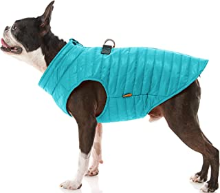 Gooby Puffer Dog Vest - Turquoise, Small - Ultra Thin Water Resistant Zip Up Dog Jacket with D Ring Leash - Small Dog Swea...