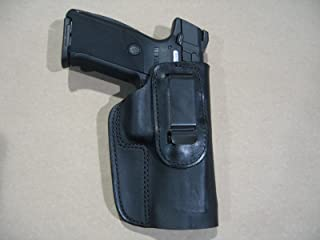 Ruger SR9, SR40, SR45, 9E IWB Leather In Waistband Concealed Carry Holster BLACK RH