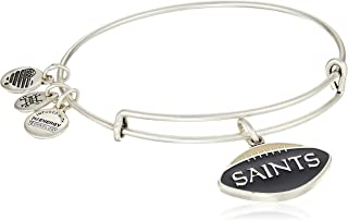 Alex and Ani Women's Color Infusion New Orleans Saints Football II EWB Bracelet, Rafaelian Silver