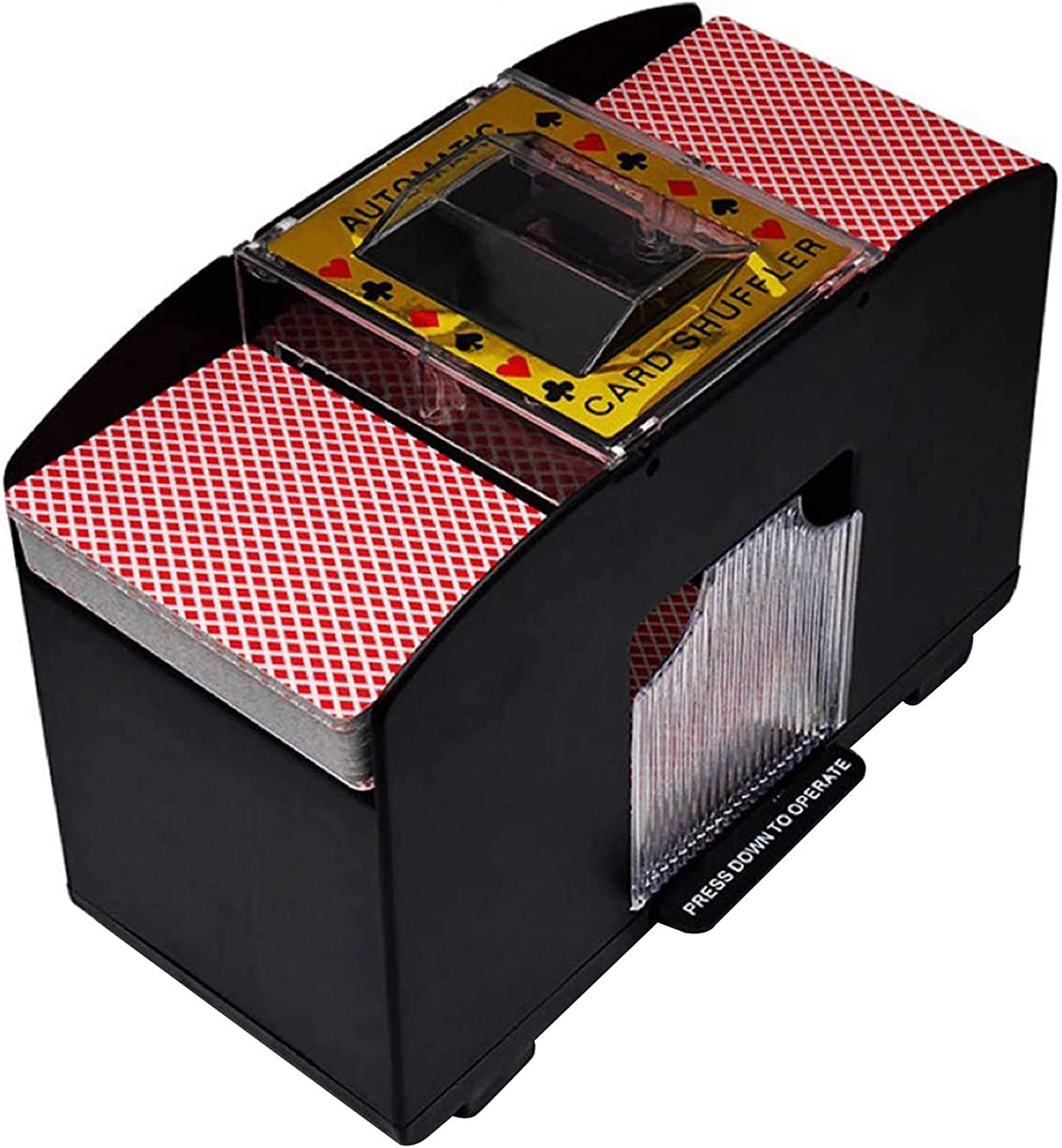 Automatic Playing Card Shuffler 6 of Decks Super popular Excellent specialty store Cards Electric Batte
