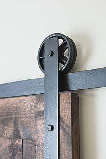 Artisan Hardware 6ft Black Vintage Style Sliding Wooden Barn Door Hardware Rustic