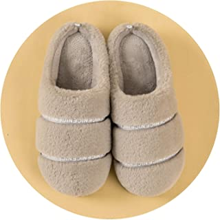 Slippers Women Autumn/Winter Cotton Slippers Cross-Border Indoor Rabbit Hair for Men and Women Lovers Cotton Shoes Slippers