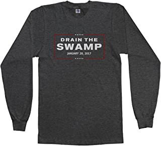 Men's Drain The Swamp Trump 2017 Inauguration Long Sleeve T-Shirt