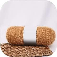 Colorful Squirrel Cashmere Yarn Faux Mohair Yarn Fashion Soft Crochet Yarn Middle Tick Knitting for DIY Winter Hat Scarf,15