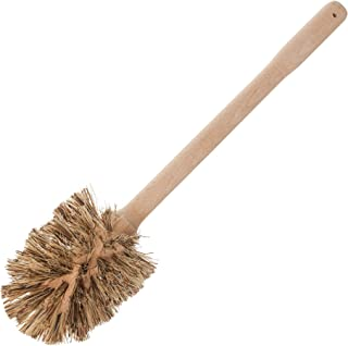 """REDECKER Union Fiber Toilet Brush with Untreated Beechwood Handle, Durable Natural Stiff Bristles, 15"""", Made in Germany"""