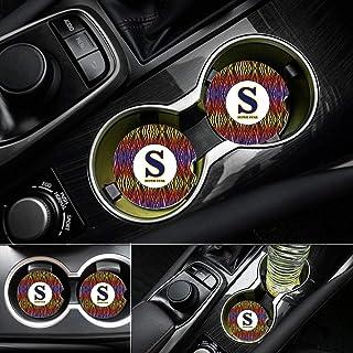CoxFox 車用コースター カップホルダー用 吸水性 2個パック 2.6インチストーン 自動車用カップホルダー 吸収性コースターセット ドリンク用