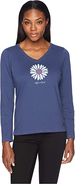 Petal Daisy Crusher Long Sleeve Vee