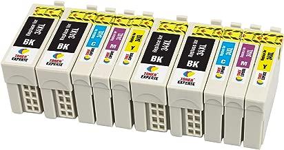 TONER EXPERTE® 10 XL Cartuchos de Tinta compatibles con Epson 34XL 34 XL T3471 T3472 T3473 T3474 para Impresoras Epson Workforce Pro WF-3720DWF WF-3725DWF   Alta Capacidad