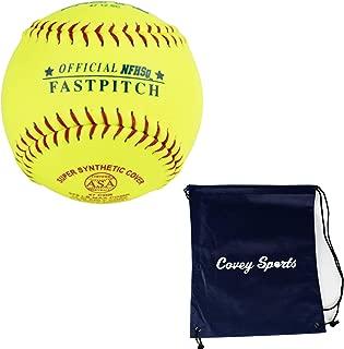 ProNine Softballs 12 Inch Fastpitch High School Balls (Multi-Packs) Bundled with Covey Sports Bag
