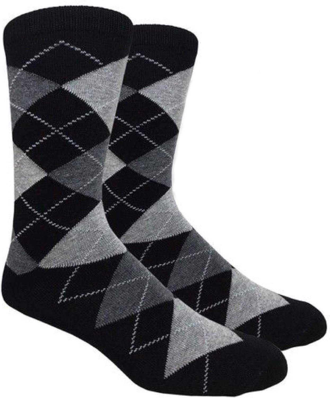 Men's FineFit Arygle Dress Trouser Socks Assorted Colors - You Choose!