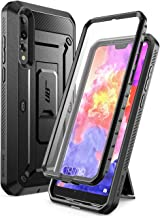 SUPCASE Huawei P20 Pro Case, Full-Body Rugged Holster Cover with Built-In Screen Protector for Huawei P20 Pro (2018 Release) Not for Huawei P20, Unicorn Beetle Pro Series (Black)