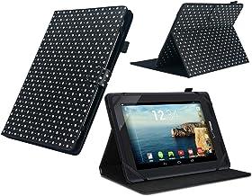 Navitech - Carcasa para LG G Pad 4G LTE, diseño de Lunares, Color Gris