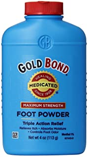 Gold Bond Foot Powder Medicated 4 Ounce (118ml) (2 Pack)