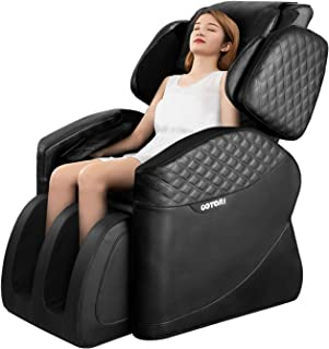 OOTORI Full Body Electric Massage Chair, Zero Gravity Neck Back Legs and Foot Shiatsu Massager with Heat and Foot Rollers (Black)