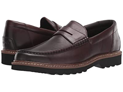 Rockport Peirson Penny Keeper (Dark Bitter Chocolate Leather) Men
