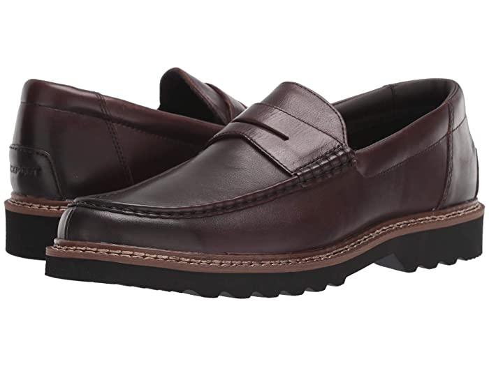Rockport  Peirson Penny Keeper (Dark Bitter Chocolate Leather) Mens Shoes