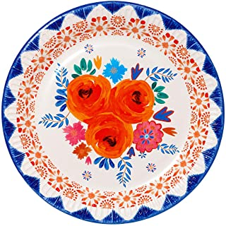 Pack of 12 -Size 9 inches - Premium Floral Paper Plates - Pretty Design -Ideal for a Summer BBQ or Festival Themed Outdoor...