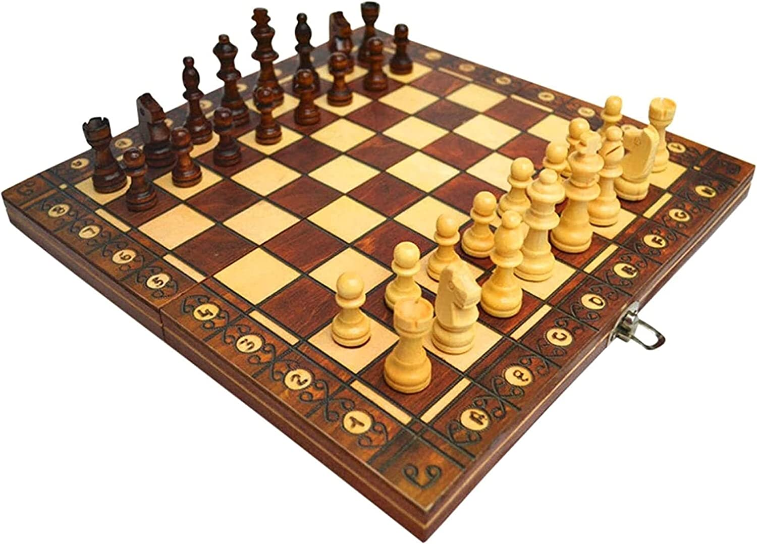MTCWD Folding Seattle Mall Wooden Chess Magnetic Set Ch Foldable Elegant