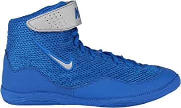 Nike Men's Inflict 3 Wrestling Shoes(White/Blue,10.5,D (M) US)