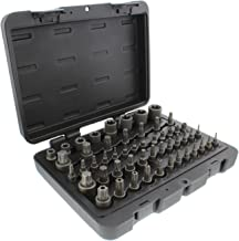 ABN Star Torx Bit Socket 52-Piece Set – SAE 1/4, 3/8, 1/2in 4-Point Square Drive T6–T70, E4–E24, TP8–TP60, TT8–TT60
